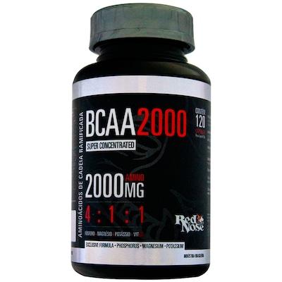 BCAA 4:1:1 2000 mg - 120 Cápsulas – Sem Sabor – Red Nose