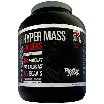 Hypermass Gainers 49000 – 3 Kg – Sabor Morango – Red Nose