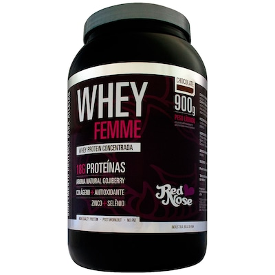 Whey Femme – 900 g – Sabor Chocolate – Red Nose