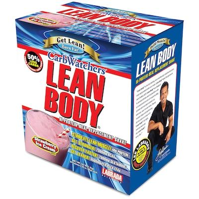 Lean Body Carb Watchers – 20 Envelopes – Sabor Morango – Labrada Nutrition