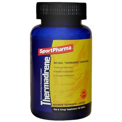 Termogênico Sportpharma Thermadrene - Guaraná, Gengibre e Pimenta - 60 Tabletes