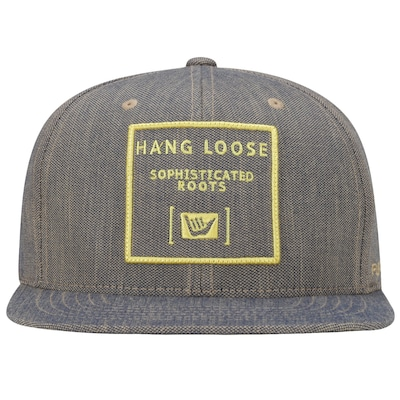 Boné Aba Reta Hang Loose Gold - Strapback - Adulto