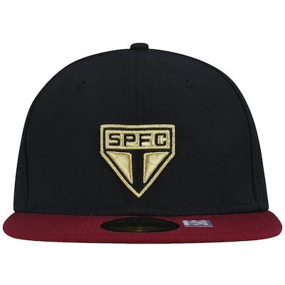 Boné Aba Reta New Era São Paulo FC -  Fechado - Adulto