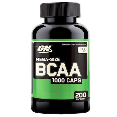BCAA 1000 Optimum Nutrition Meganutri –  200 Cápsulas – Sem Sabor