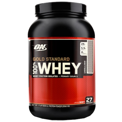 100% Whey Gold Standard– 909 g – Sabor Cookies and Cream – Optimum Nutrition