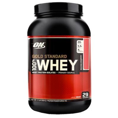 Whey Protein Optimum Nutrition 100% Whey Gold Standard - Morango - 909g
