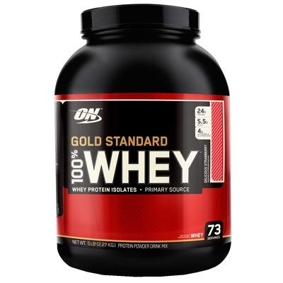 Whey Protein Isolado Optimum Nutrition 100% Whey Gold Standard - Morango - 2,27Kg - 73 Porções