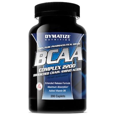 BCAA 2200 Dymatize Nutrition – 200 Cápsulas – Sem Sabor