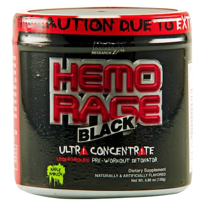Hemo-Rage Black– 138 g – Sabor Apple Ambush – Nutrex