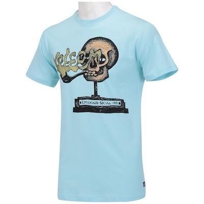 Camiseta Volcom Smoking Skull - Masculina