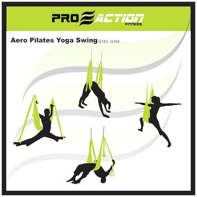 Fita de Suspensão ProAction Aero para Pilates e Yoga - Até 200Kg