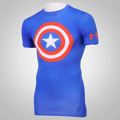 Camiseta de Compressão Under Armour Capitão América – Masculina