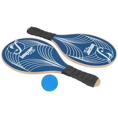 Kit de Frescobol Impar Linhas: 2 Raquetes e 1 Bolinha