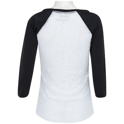 Camiseta 3/4 Hurley Raglan Compresso - Feminina