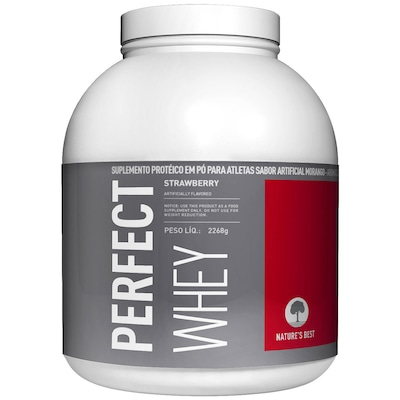 Perfect Whey Protein - 2,272 Kg - Sabor Morango - Natures Best