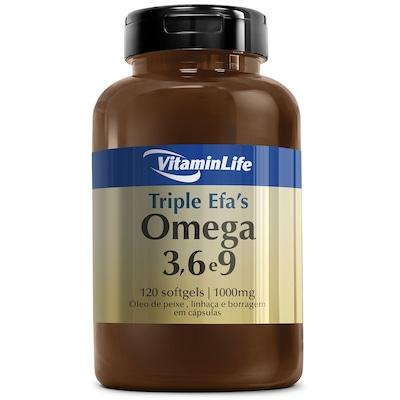 EFA Triplo VitaminLife Ômega 3, 6 e 9 - 120 Cápsulas em Gel