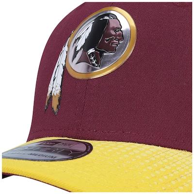 Boné New Era 39THIRTY Washington Redskins NFL Red-Yellow - Fechado - Adulto