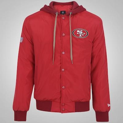 Jaqueta College com Capuz New Era San Francisco 49ers - Masculina