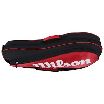 Raqueteira Wilson Esp Equipment II Triple Bag Rdbk