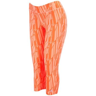 Calça Corsário Estampada com Bolso adidas Gym Athl Graf - Feminina