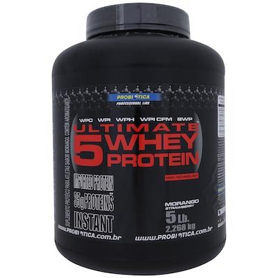 Ultimate 5 Whey Protein – 2,268 kg – Morango – Probiótica