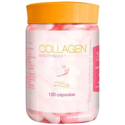 Collagen – 120 Cápsulas - Sem Sabor -  Probiótica