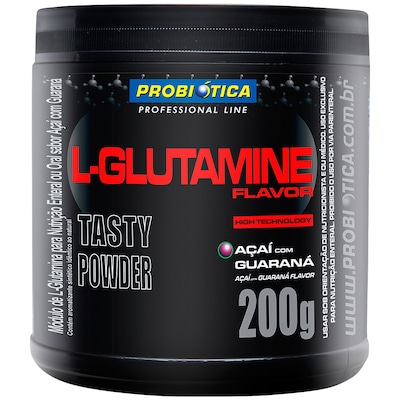 Glutamina Probiótica L- Glutamine Flavor- Açaí com Guaraná - 200g
