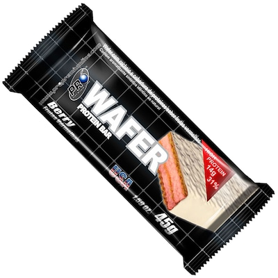 Wafer Protein Bar – Frutas Vermelhas - Caixa com 12 Unidades de 45g cada -  Probiótica