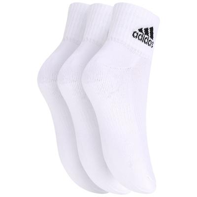 Meia adidas Ankle Mid Cushion Kit com 3 Pares - Adulto
