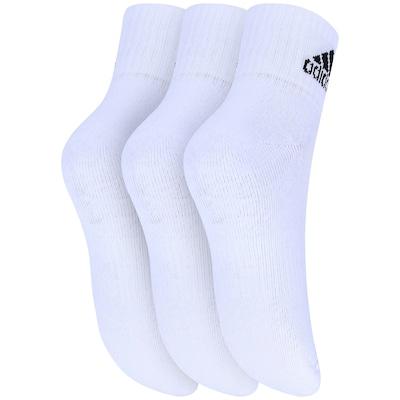 Meia adidas Ankle Mid Kit Com 3 Pares - Infantil
