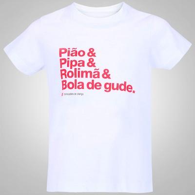 Camiseta Huck Brincadeira de Criança - Infantil
