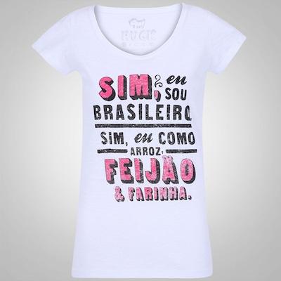 Camiseta Huck Feijão Com Farinha - Feminina