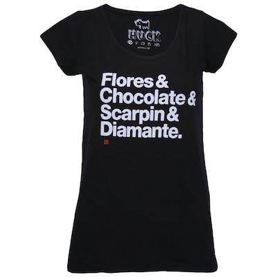 Camiseta Huck Flores - Feminina