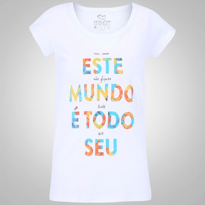 Camiseta Huck Este Mundo - Feminina