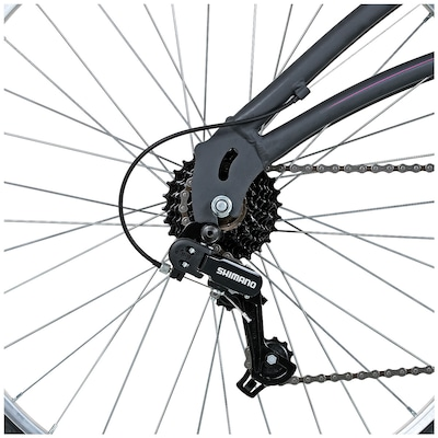 Bicicleta Caloi 400 - Aro 26 - Freio V-Brake - Câmbio Traseiro Shimano - 21 Marchas - Feminina