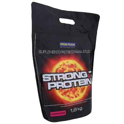 Whey Protein Probiótica Strong 7 Protein - Morango - 1,8Kg