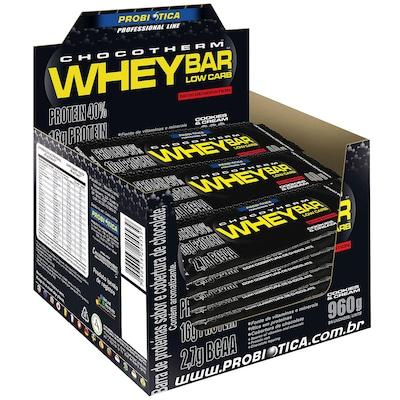 Whey Bar® High Protein - 960 g - Caixa com 24 Unidades de 40 g Cada – Sabor Cookies – Probiótica