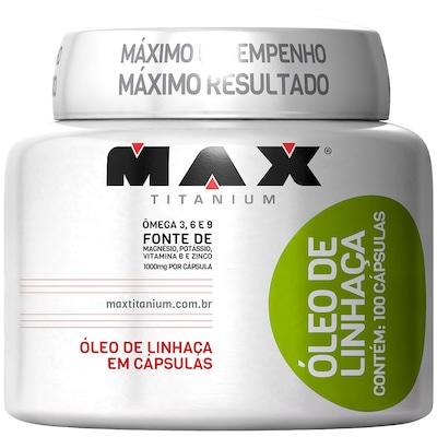 Óleo de Linhaça Max Titanium - 100 Gel-Cápsulas