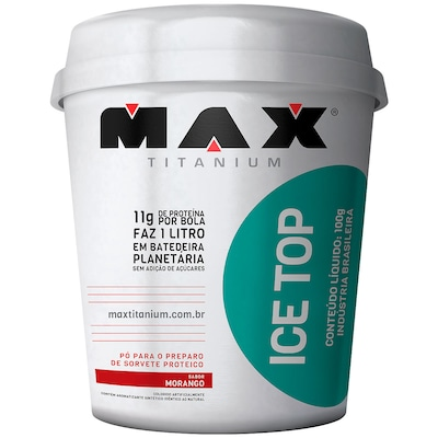 Pó para Sorvete Proteico Max Titanium Ice Top - Morango - 100g