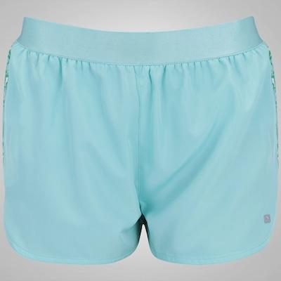 Shorts Oxer Recorte Print - Feminino