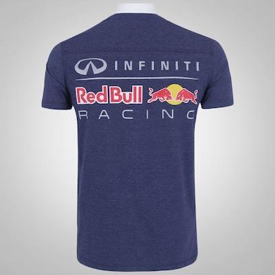 Camiseta Red Bull Gola V - Masculina