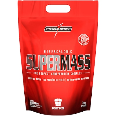 Hipercalórico Integralmédica Supermass - Morango - 3Kg