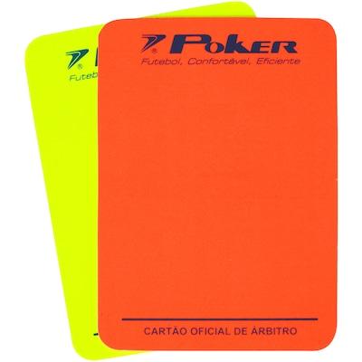 Kit de Cartões para Juiz de Futebol de Campo Poker