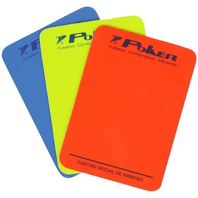 Kit de Cartões para Juiz de Futsal Poker
