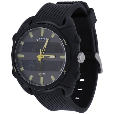 Relógio Analógico Digital Masculino Speedo 18003g0 Com Carregador De Celular