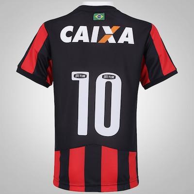 Camisa do Vitória I 2015 c/nº Puma - Infantil