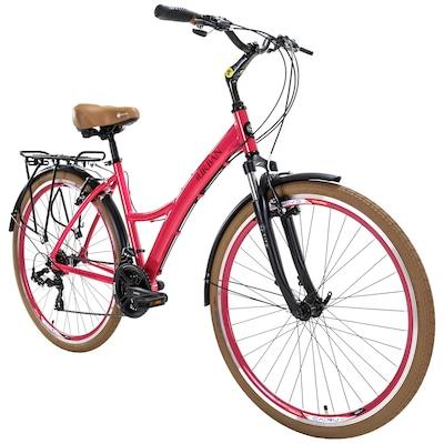 Bicicleta Tito Urban Premiun ID - Aro 700c - Freio V-Brake - Câmbio Shimano - 21 Marchas - Feminina