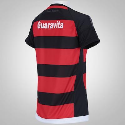 Camisa do Flamengo I 15/16 com Patrocínio adidas - Feminina