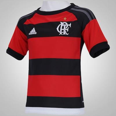 Camisa do Flamengo I 15/16 com Patrocínio adidas - Infantil