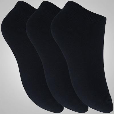 Kit de Meia adidas Trefoil Liner com 3 Pares - Adulto